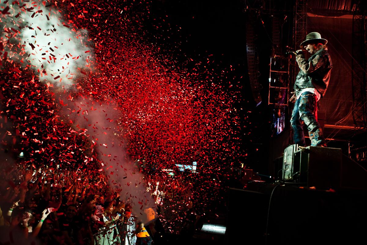Show do Guns N' Roses. Foto: Divulgação.