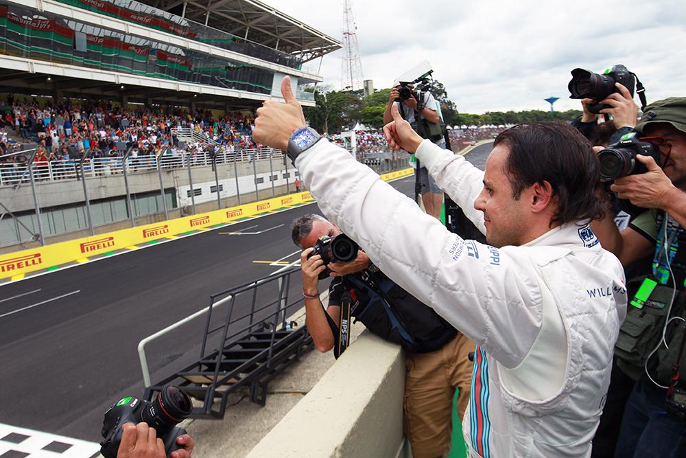 O piloto Felipe Massa, que ocupou o terceiro lugar do pódio do GP do Brasil 2014. Foto: Beto Issa/GP Brasil