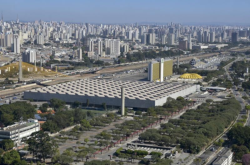 Foto aérea do Pavilhão de Exposições do Anhembi. Foto: José Cordeiro/ SPTuris