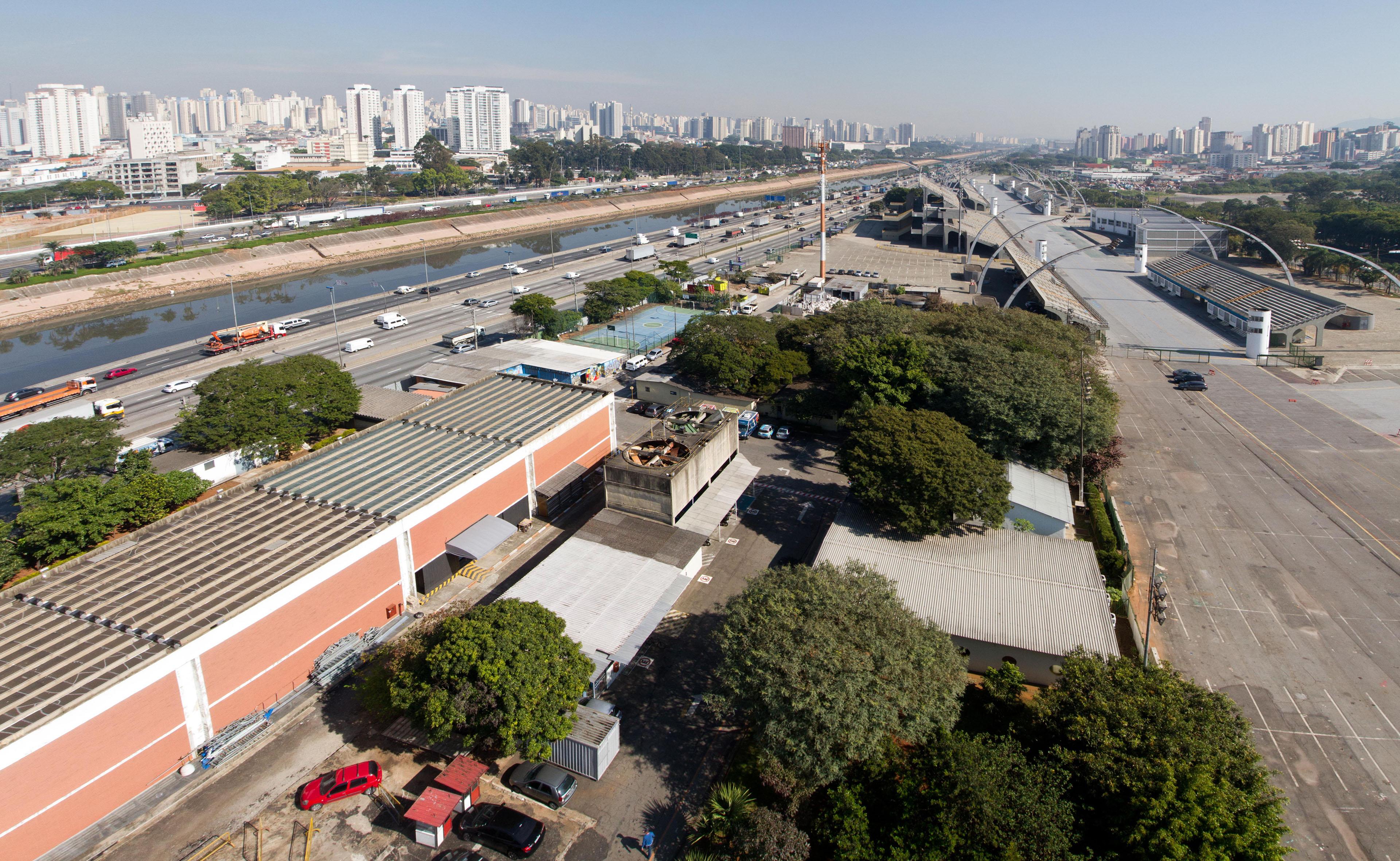 Área onde ficará o novo Espaço Multiuso de Eventos no Anhembi. Foto: Jose Cordeiro/ SPTuris