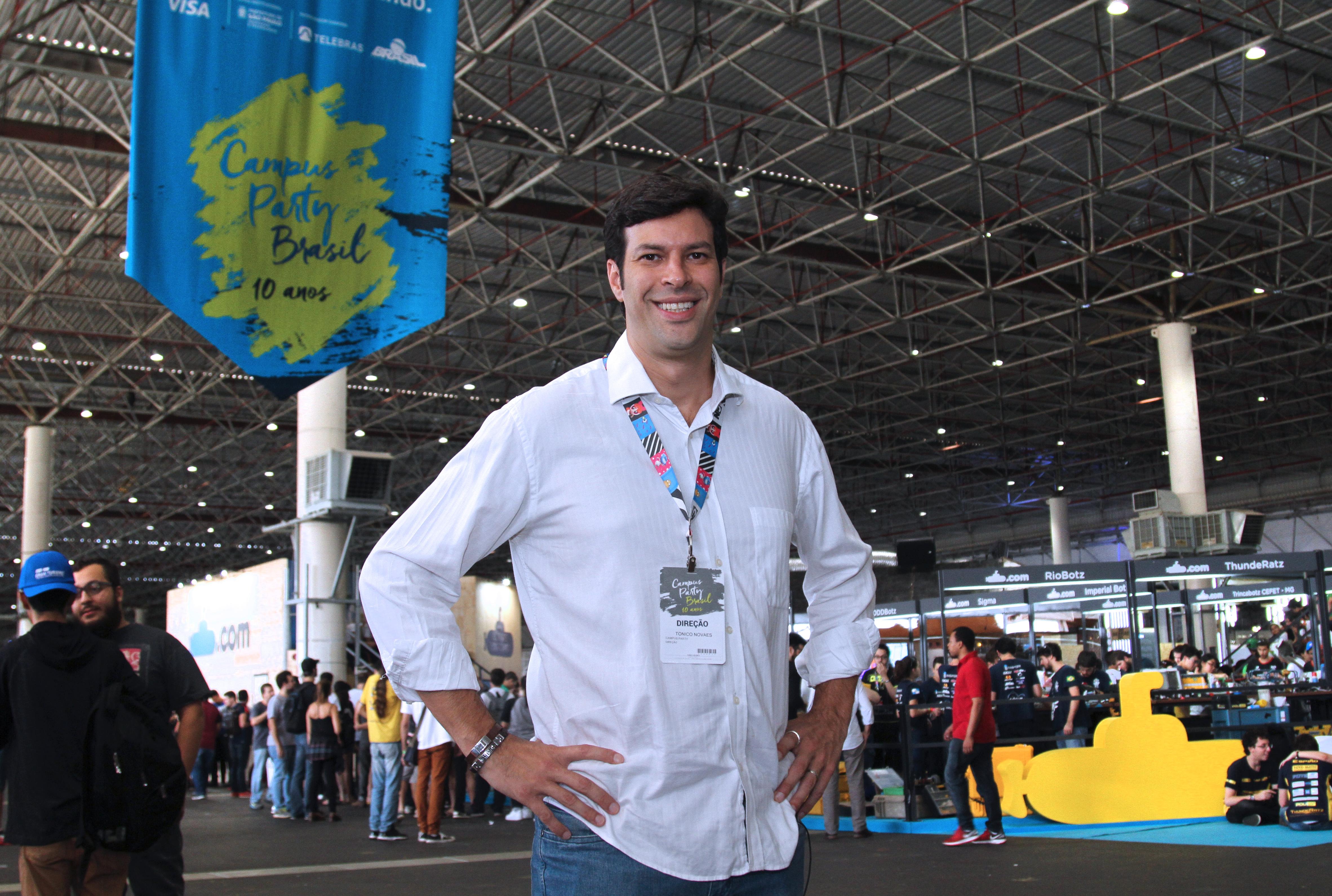 Tonico Novaes, diretor-geral da Campus Party. Foto: Jose Cordeiro/ SPTuris.
