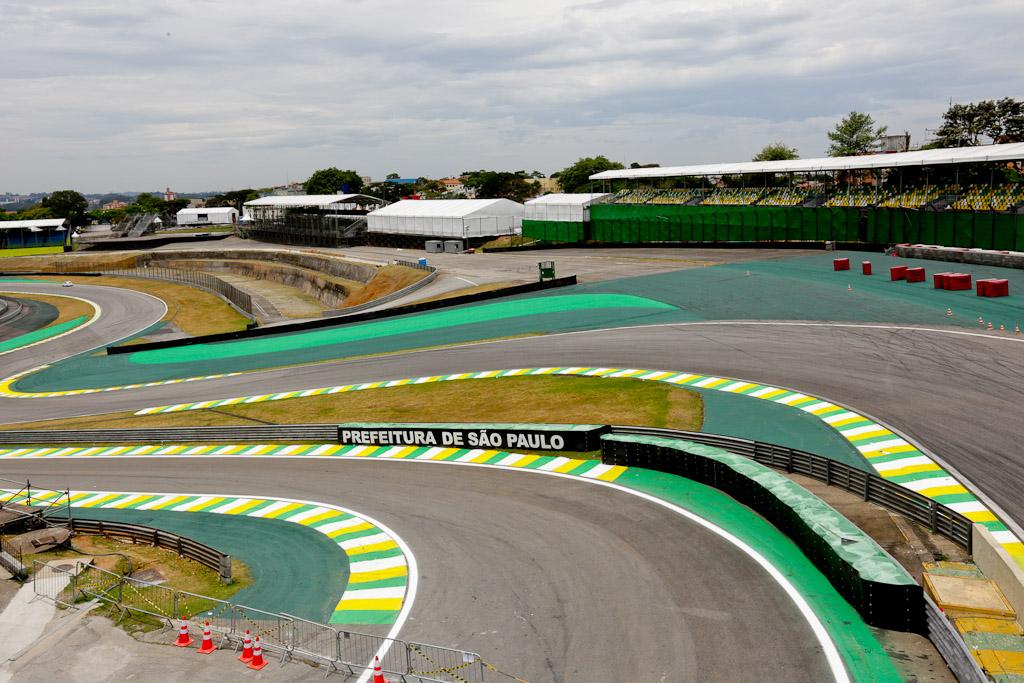 A curva S do Senna no circuito de Interlagos. Foto: Jose Cordeiro/ SPTuris.