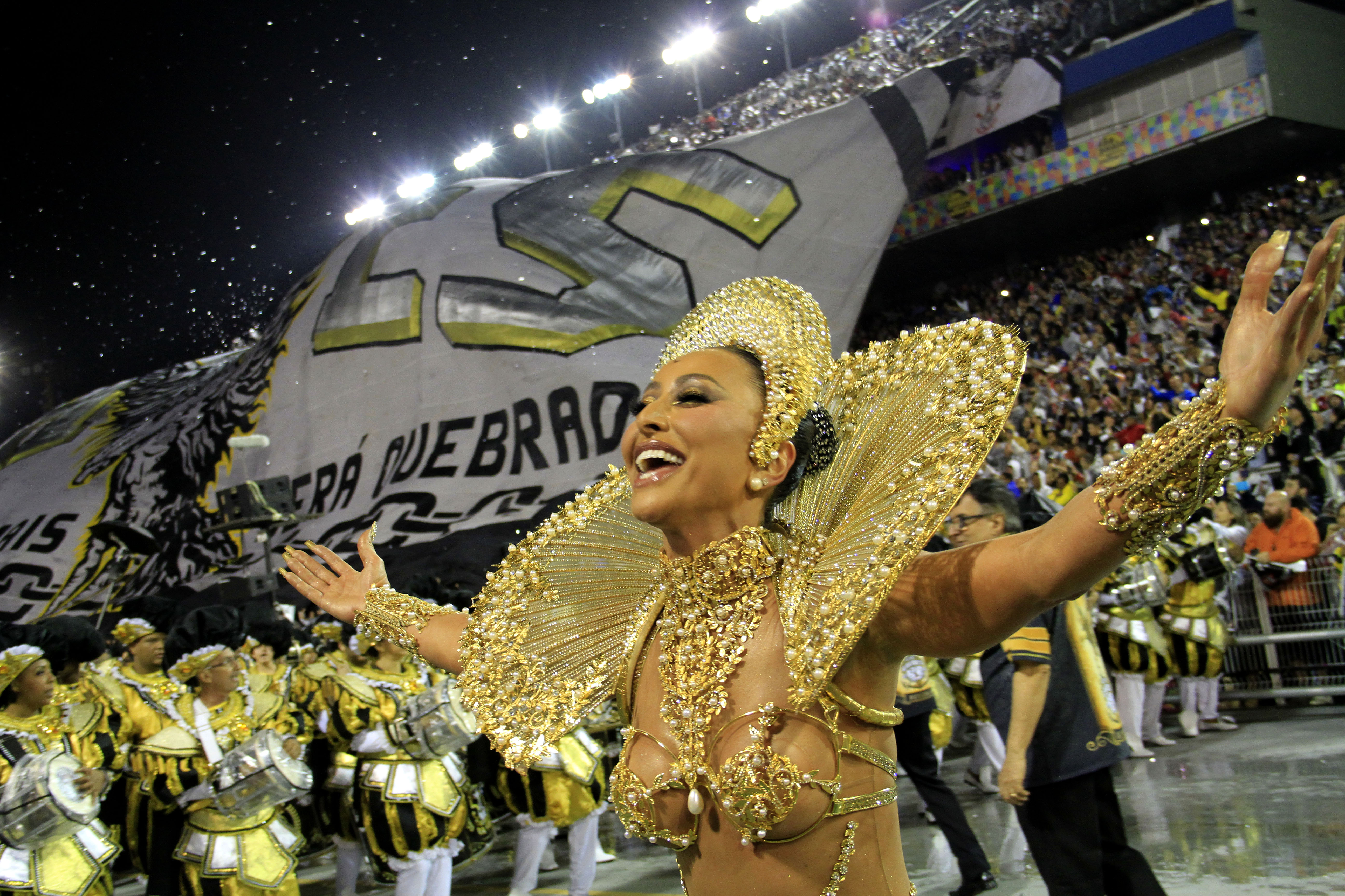 Sabrina Sato, rainha de bateria da Gaviões da Fiel. Foto: Jefferson Pancieri/ SPTuris.