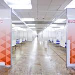 Anhembi Palacio  Hall Nobre  - São Paulo (SP) - 02.04.2020 - Vista da montagem de hospital de campanha nas dependências do Palácio das Convenções do Anhembi. Foto: Jose Cordeiro/SPTuris