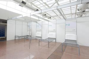 Anhembi Palacio  Hall Nobre  - São Paulo (SP) - 31.03.2020 - Vista da montagem de hospital de campanha nas dependências do Palácio das Convenções do Anhembi. Foto: Jose Cordeiro/SPTuris
