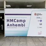Anhembi montagem hospital  - São Paulo (SP) - 13.04.2020 - Vista da entrada do hospital de campanha nas dependências do Palácio das Convenções do Anhembi, com o bloqueio do acesso à sede administrativa. Foto: Jose Cordeiro/SPTuris